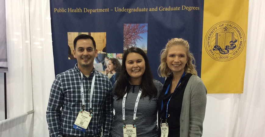 Graduate students at the APHA meeting