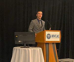 Ph. D. student Ryan Torres presents at the Mosquito and Vector Control Association of California Conference in San Diego.