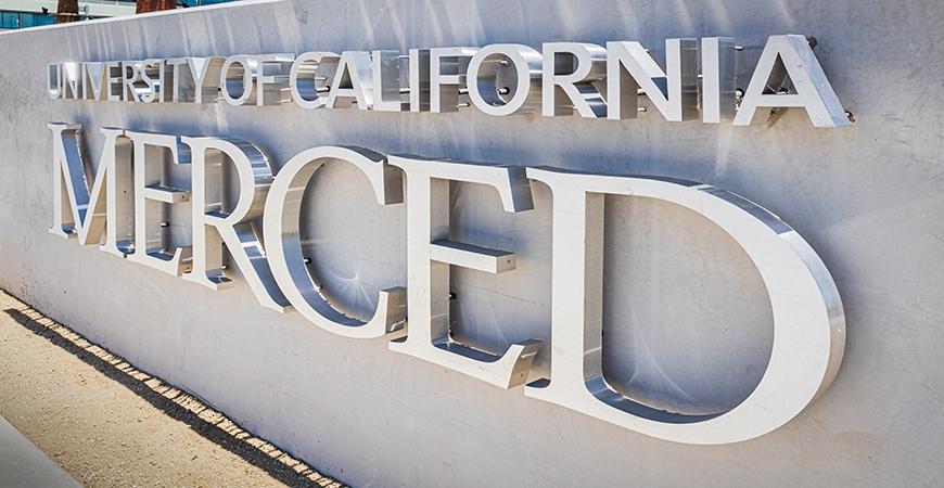 UC Merced entrance sign